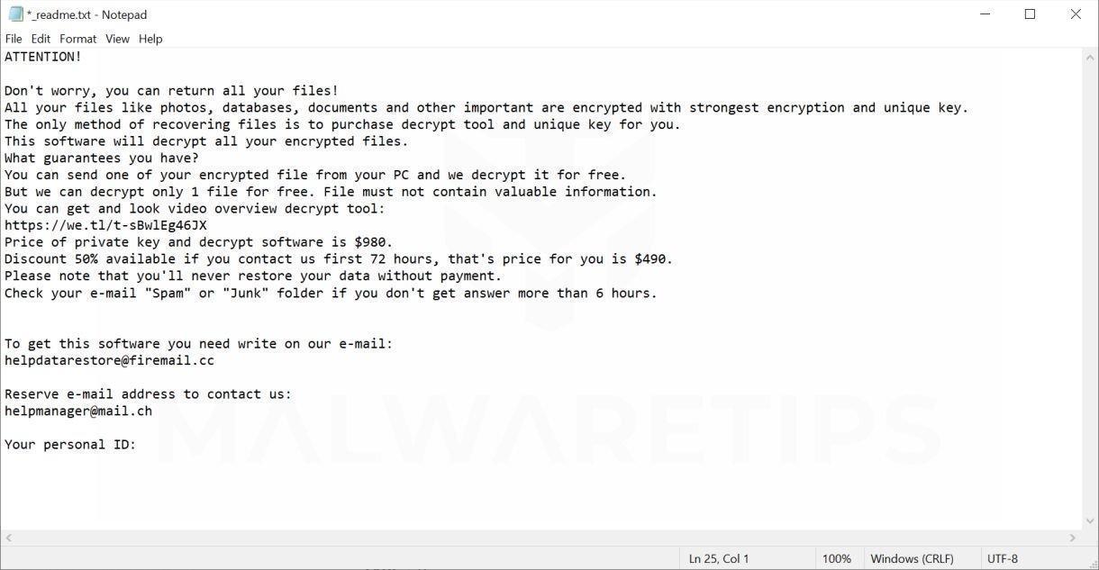 Image: JOPE ransomware virus