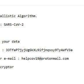 Image: SARS-CoV-2 ransomware