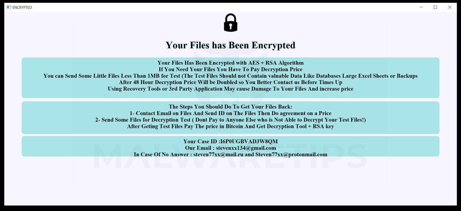 Image: VOID Ransomware