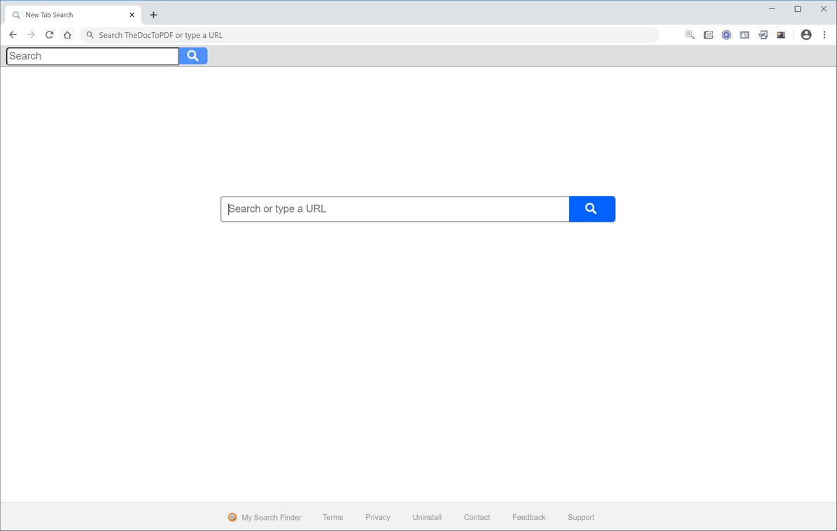 Image: Chrome browser is redirected to My Search Finder
