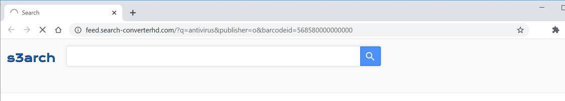 Image: Chrome browser is redirected to Search-converterhd.com