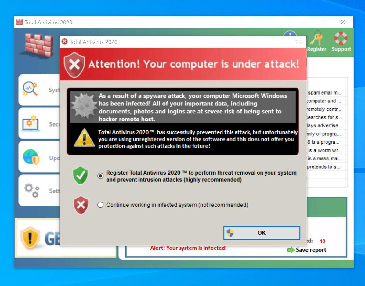Image: Total Antivirus 2020 malware