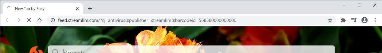 Bild: Der Chrome-Browser wird zu StreamLim Search umgeleitet