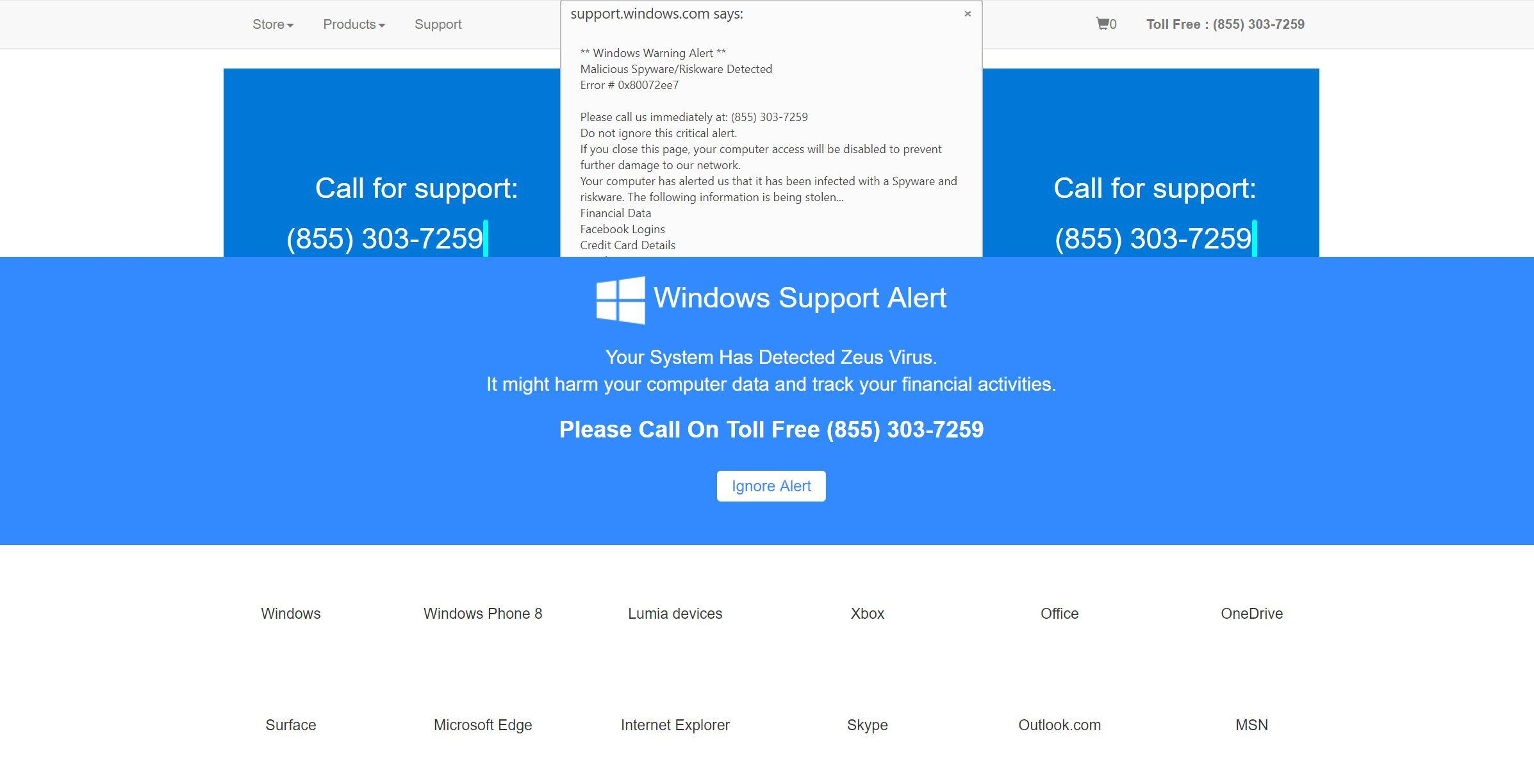 Image: Your computer has been Locked to prevent damage - Tech Support Scam