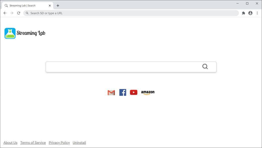 """Bild: Der Chrome-Browser wird auf die Registerkarte """"Streaming Lab"""" umgeleitet"""