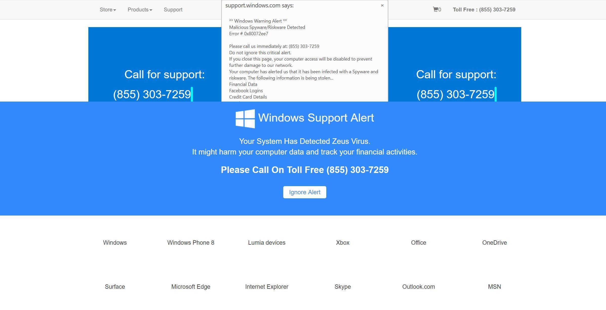 Bild: Windows-Fehlercode: DLL011150 - Betrug beim technischen Support