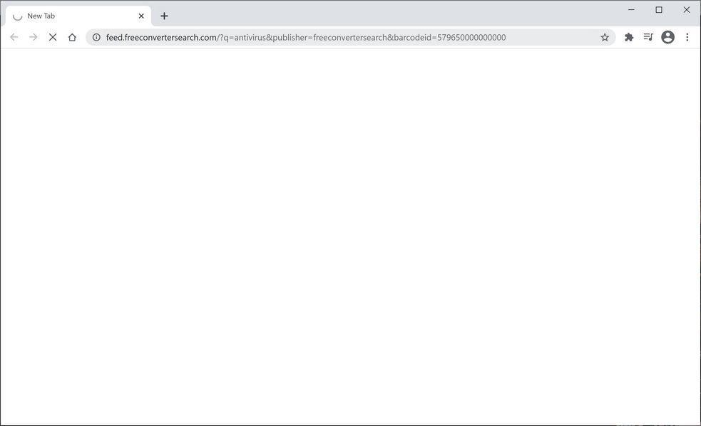 Image: Chrome browser is redirected to FreeConverterSearch Search
