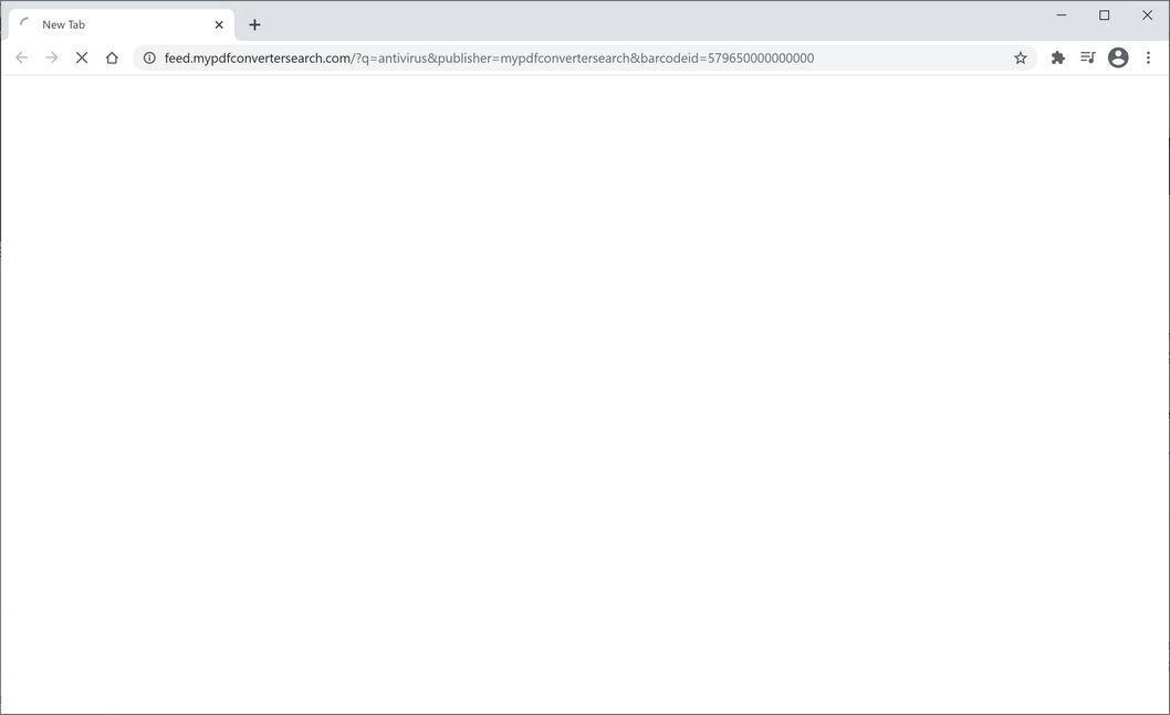 Image: Chrome browser is redirected to MyPDFConverterSearch Search
