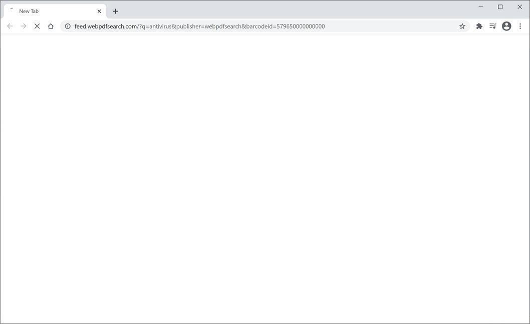 Image: Chrome browser is redirected to WebPDFSearch Search