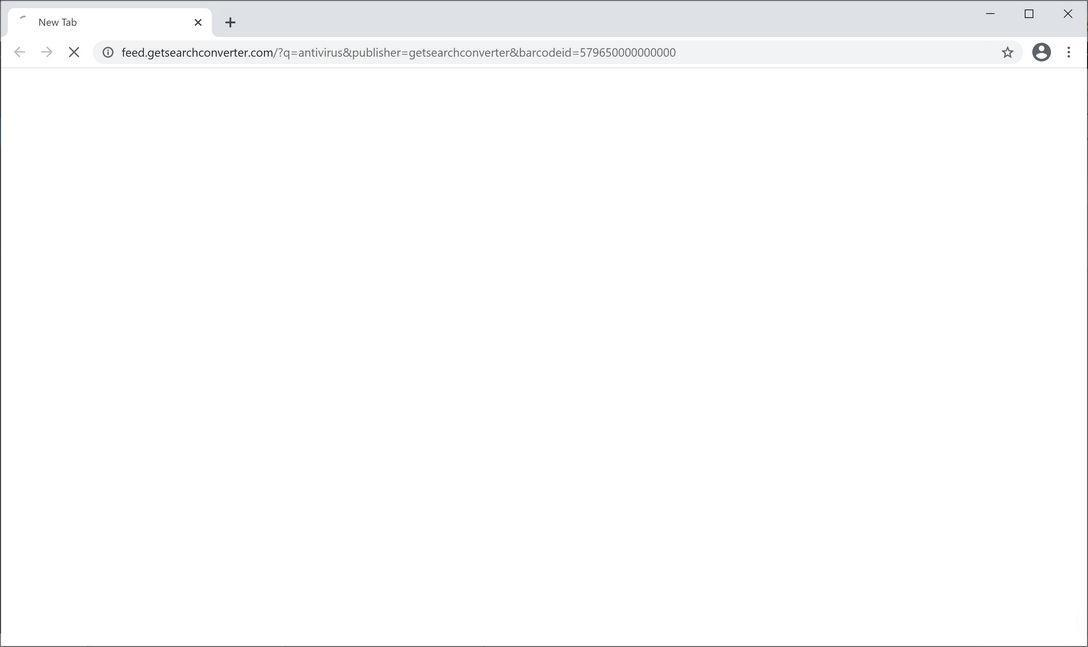Image: Chrome browser is redirected to GetSearchConverter Search