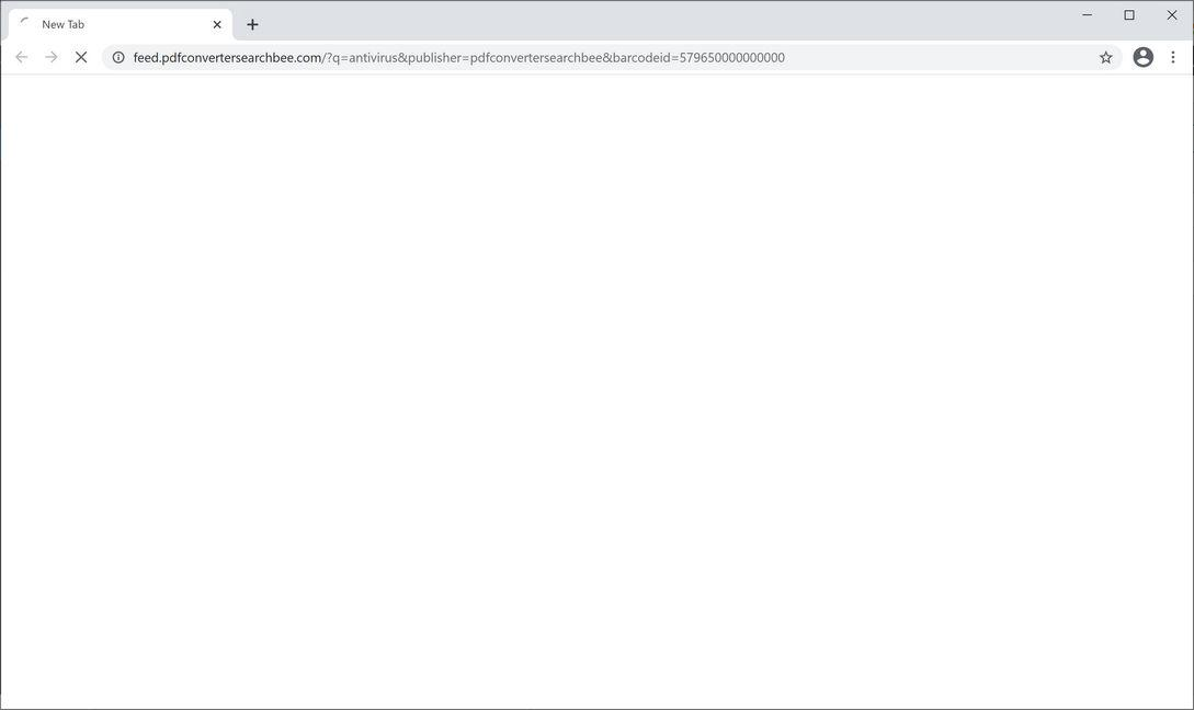 Image: Chrome browser is redirected to PDFConverterSearchBee Search