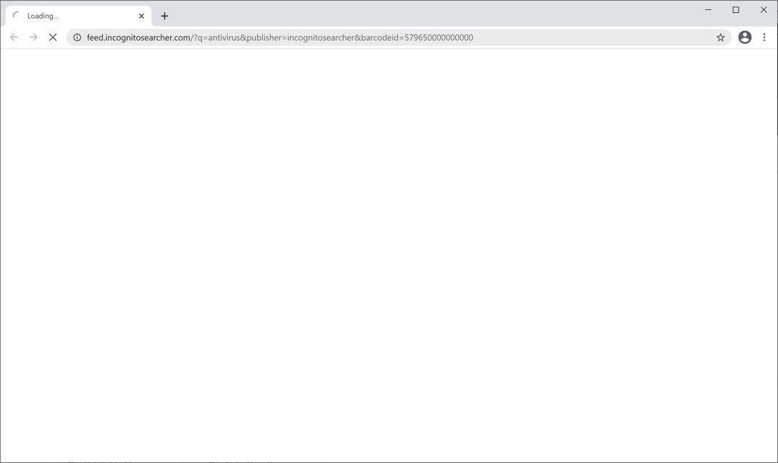 Image: Chrome browser is redirected to IncognitoSearcher Search