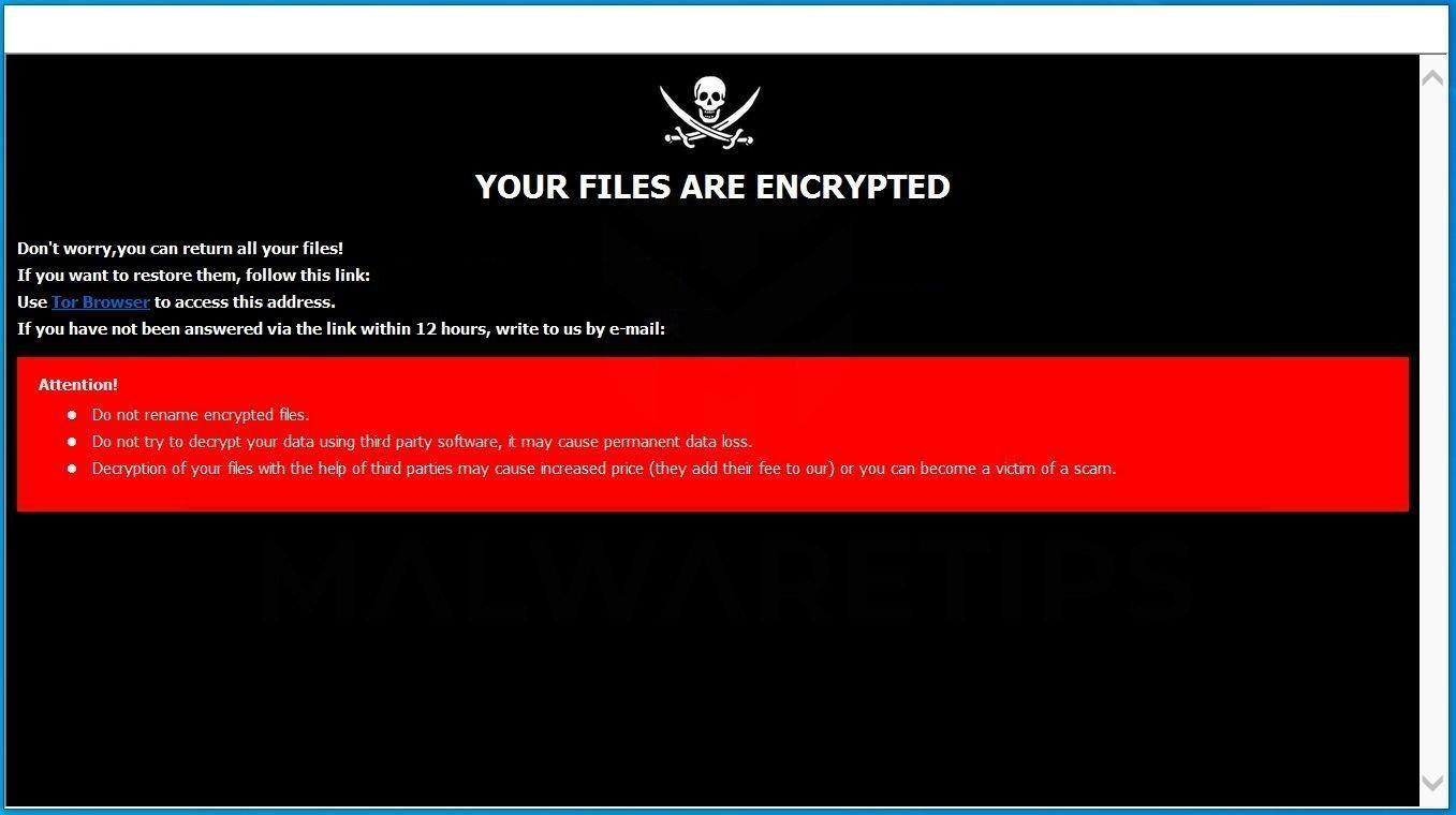 Image: [Crypthub@tuta.io].hub ransomware