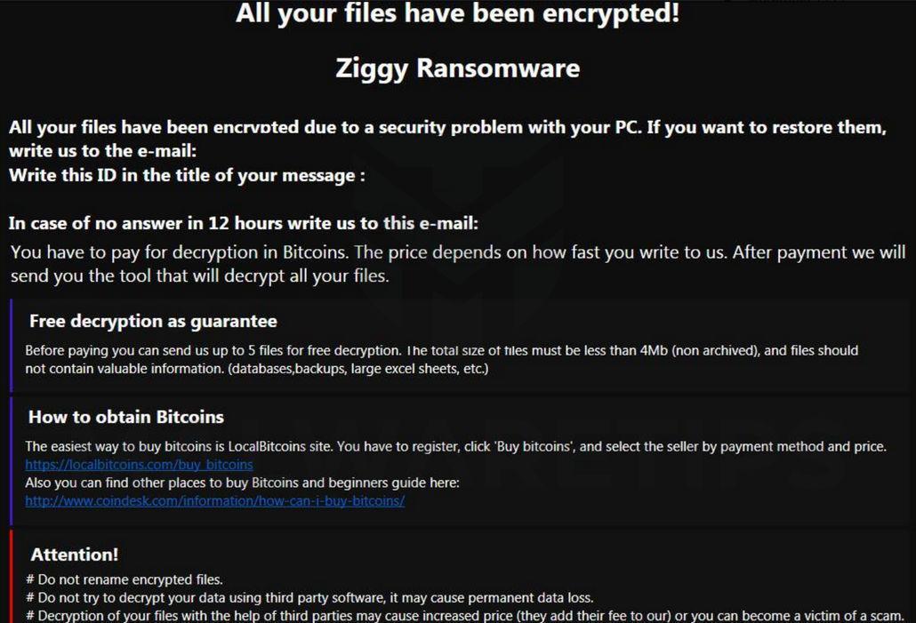 Image: Ziggy ransomware