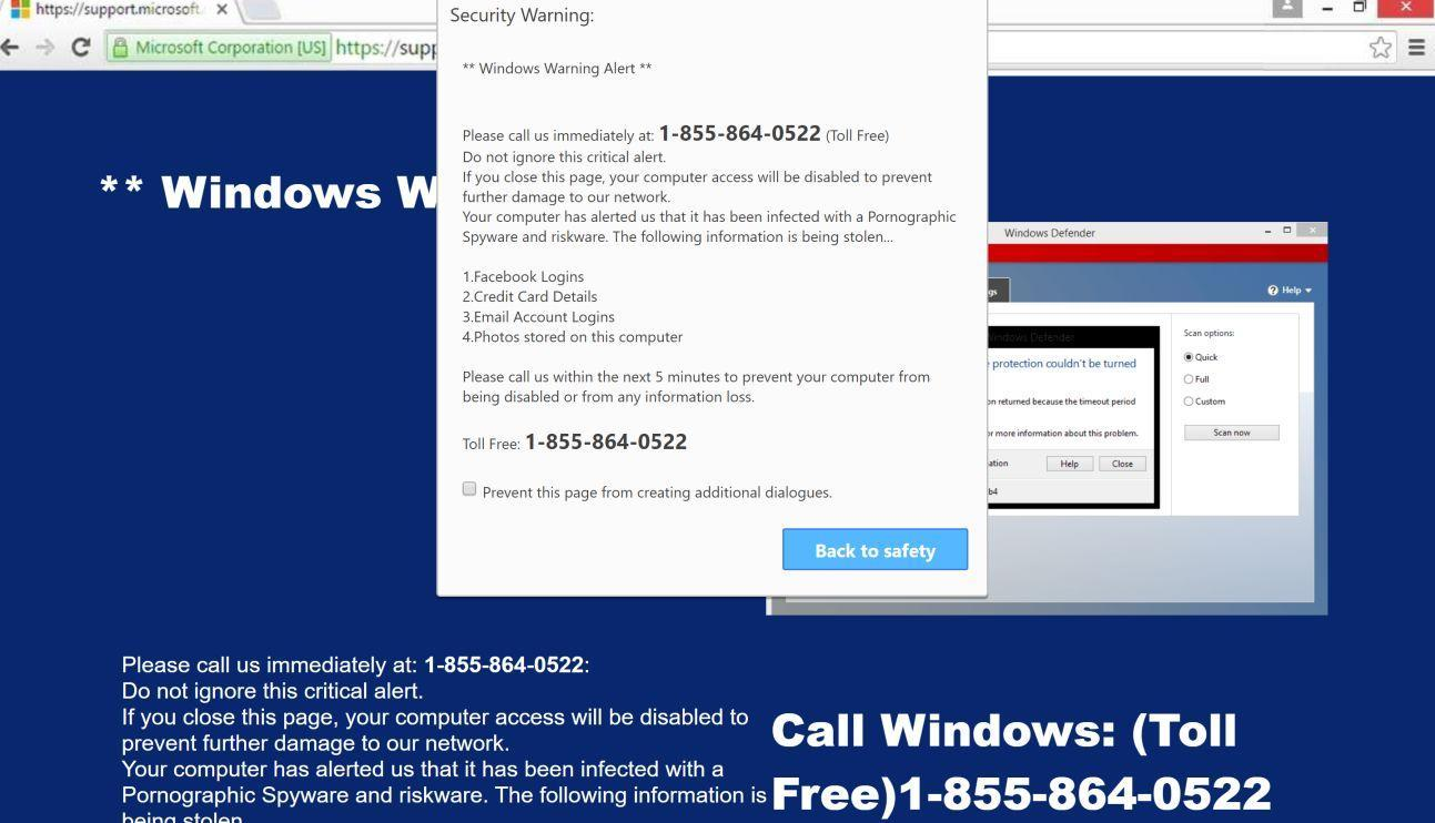 Image: Suspicious movement distinguished on you IP - Tech Support Scam