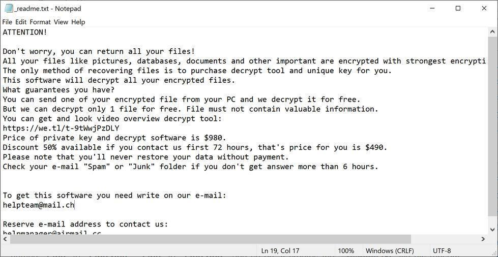 Image: YTBNransomware