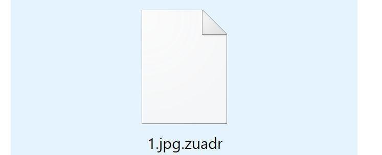 Image: Zuadr ransomware