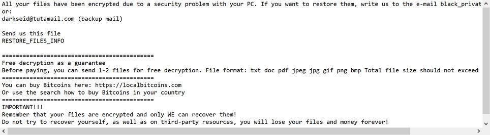 CRYSTAL ransomware