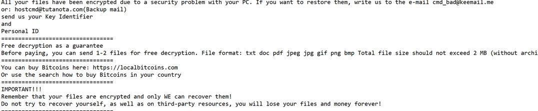 Image: VIPxxx ransomware