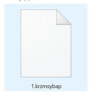 Image: Krzmsybap ransomware note