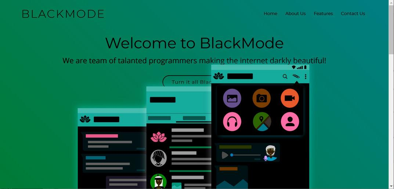 Image: Black Mode Chrome extension