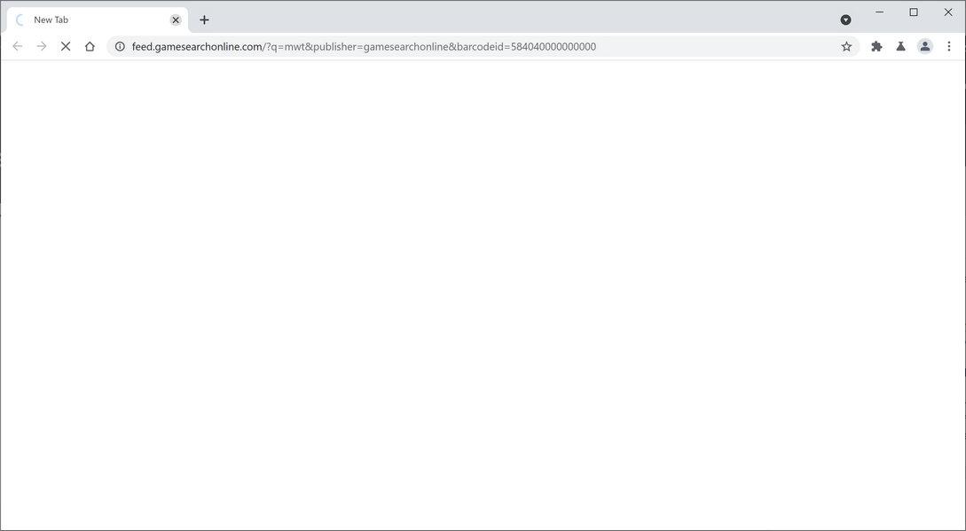 Image: Chrome browser is redirected to GameSearchOnline Search
