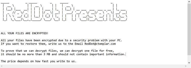 Image: reddot ransomware