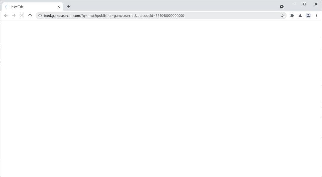 Image: Chrome browser is redirected to GameSearchIt Search