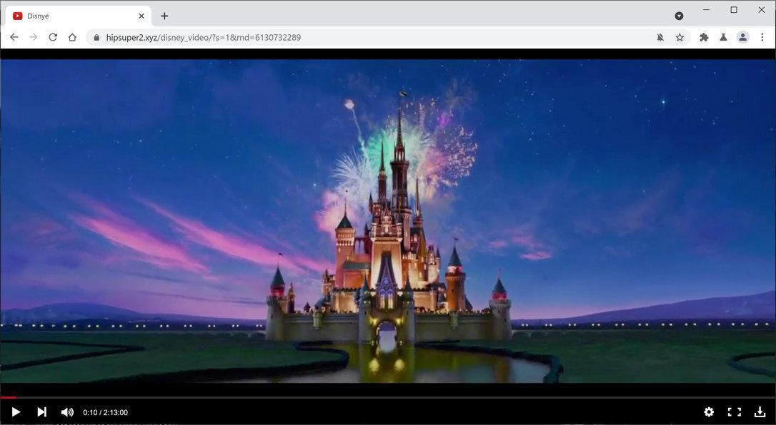 Image: Chrome browser is redirected to Hipsuper2.xyz