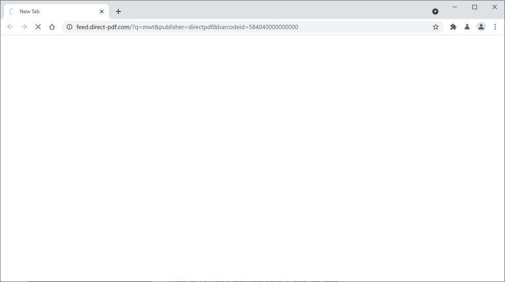 Image: Chrome browser is redirected to DirectPDF Search