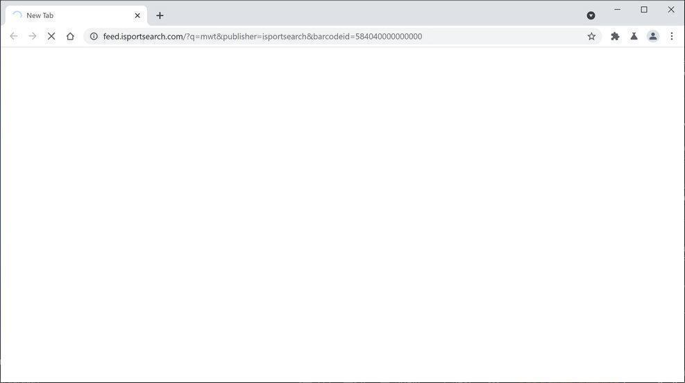 Image: Chrome browser is redirected to ISportSearch Search