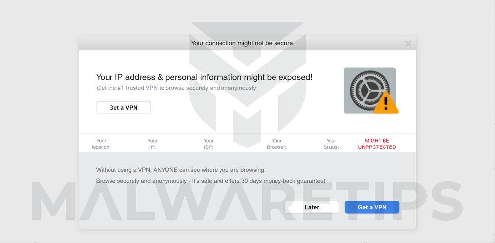 Image: IP address & personal information might be exposed scam ads