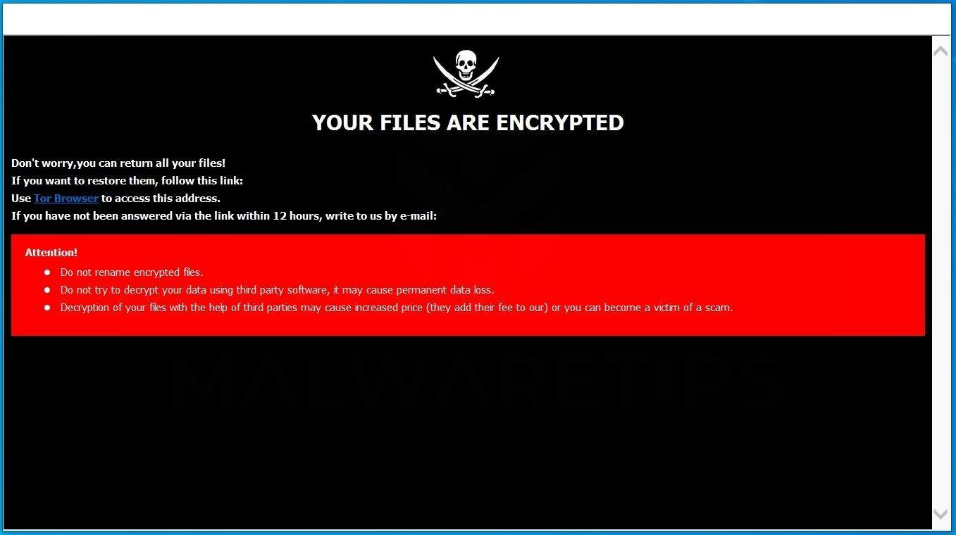 Image: [clean@onionmail.org].CLEAN ransomware