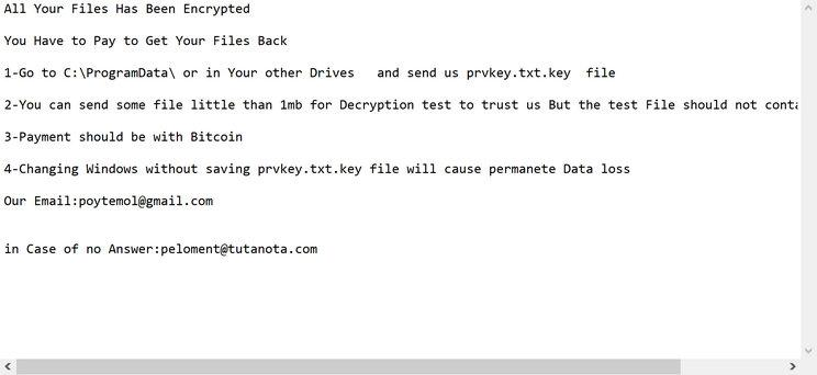 Image: CRM ransomware note
