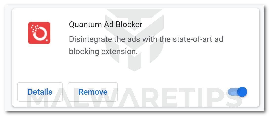 Image: Quantum Ad Blocker Chrome extension