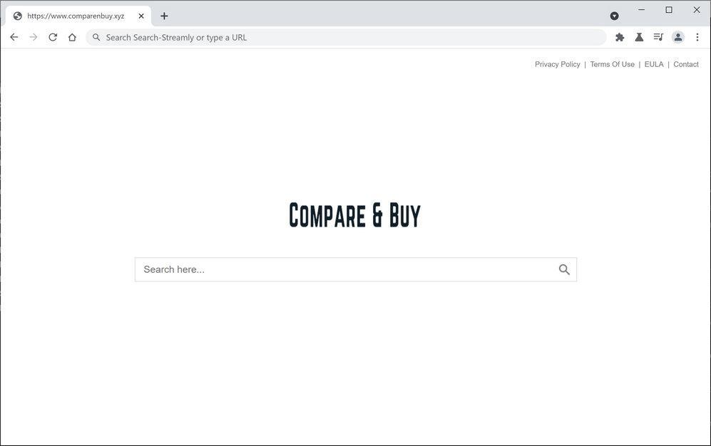 Image: Chrome browser is redirected through Comparenbuy.xyz