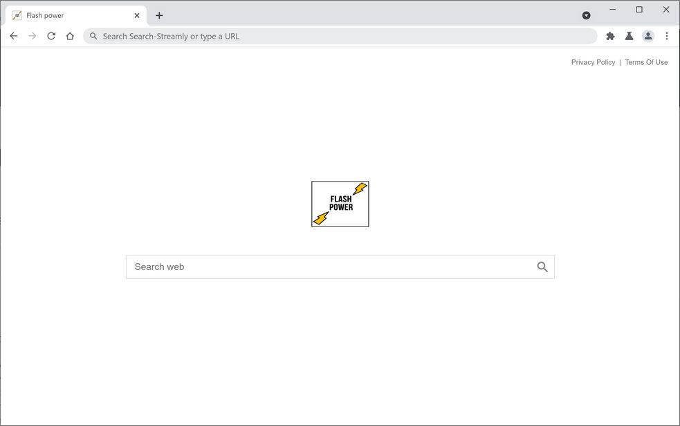 Image: Chrome browser is redirected through Flashpower.xyz