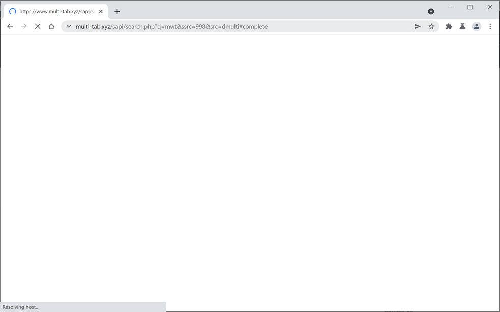 Image: Chrome browser is redirected through Multi-Tab.xyz