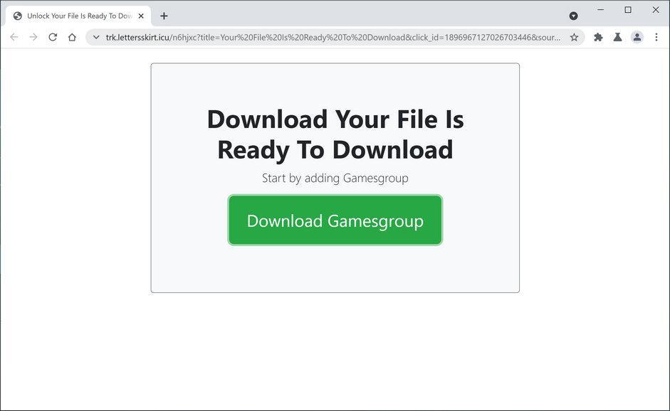 Bild: Der Chrome-Browser wird umgeleitet, um die Datei zu initiierenoverlyprogressive.vip