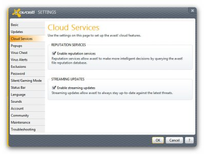 Avast 7 Cloud Services - Settings .jpg
