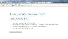 how to fix proxy error on internet explorer