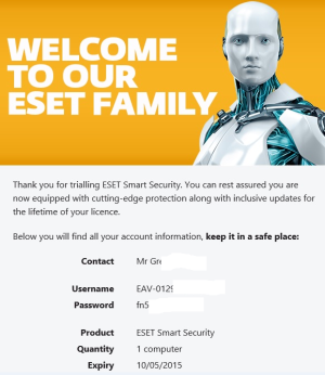 Expired Eset Home Product 4 Months License Malwaretips
