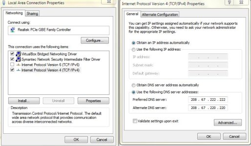 how to access my open dns accoutn netgear router