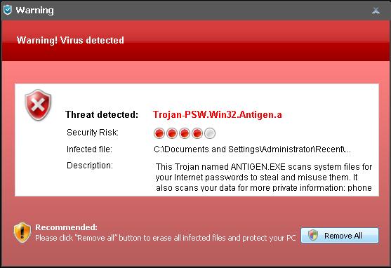 how to detect antivirus software interrupting