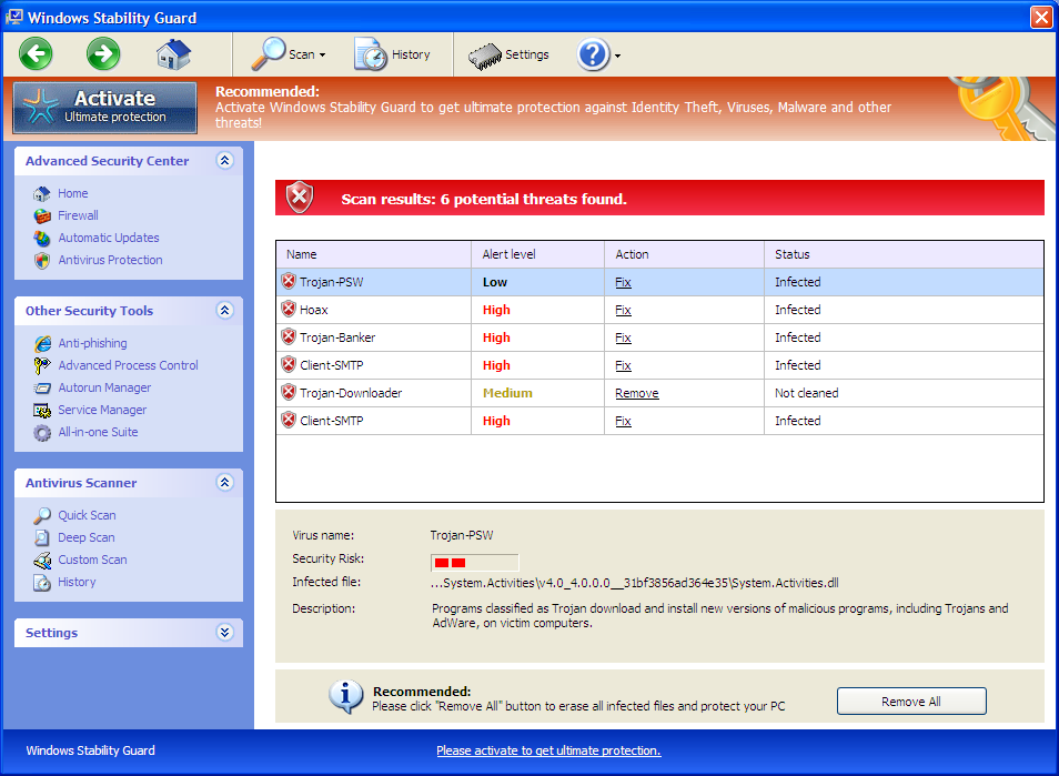 [Image: Windows Stability Guard UI]