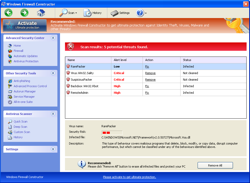 [Image: Windows Firewall Constructor]