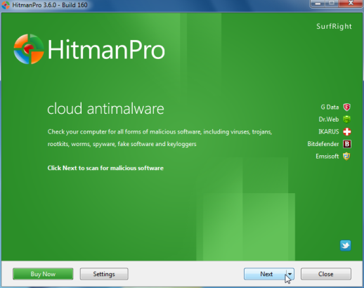 [Image: Starting HitmanPro]